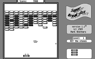Super Break-Out atari screenshot